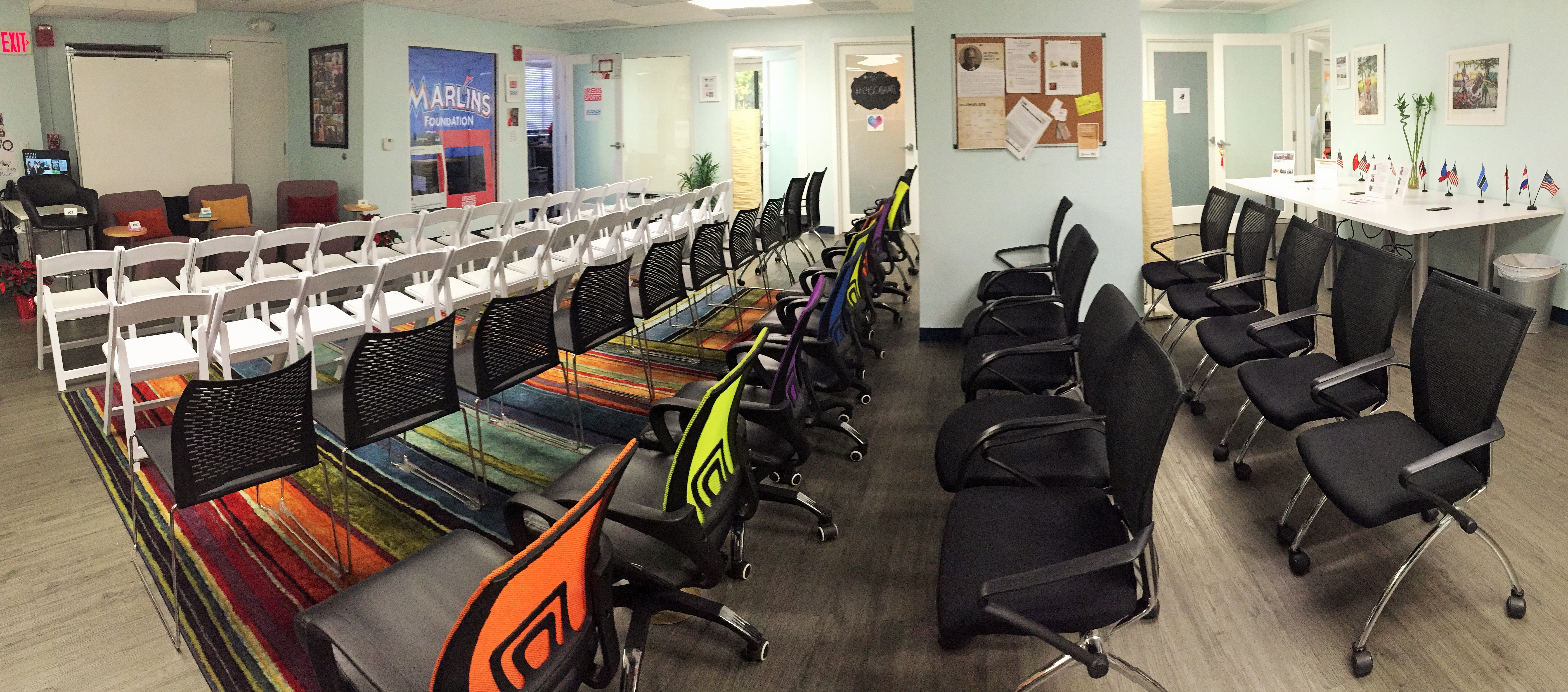 Miami Meeting Space Main Coworking Space with Chairs